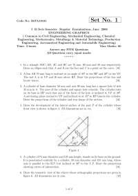 ENGINEERING GRAPHICS, compilation of exams