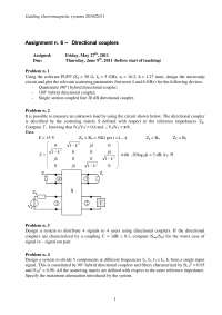 Guiding electromagnetic systems - Homework 6 - Directional couplers - Prof. Pirinoli - 2010/2011