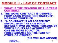 Business Law- Law of Contract-H.A.C.POPPEN