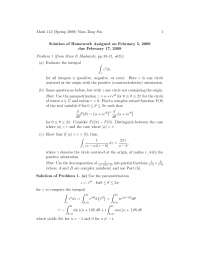 Complex Analysis 3, Exercises Solution - Mathematics