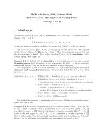 Brownian Motion and Martingales , Lecture Notes - Mathematics