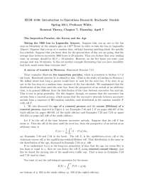 Markov Chains Introduction to Stochastic Model, Lecture Notes - Mathematics