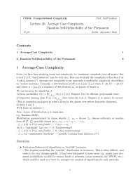 Computational Complexity Average Case Complexity 2, Lecture Notes - Computer Science