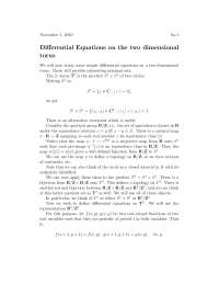Differential Equations On A Two Dimensional Torus 1, Lecture Notes - Advanced Calculus