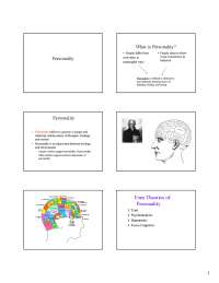 Introduction to Psychology Personality-Lecture Notes-Psychology