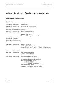 Indian Literature in English-Lecture 02 Notes-Literature