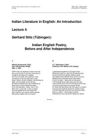 Indian Literature in English-Lecture 04 Notes-Literature