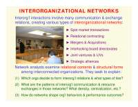 Interorganizational Networks-ORGANIZATIONS AND SOCIETY-Lecture-Sociology
