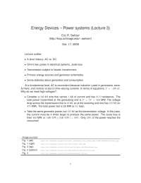 Power Systems-The Physics of Energy Devices-Lecture 3 Notes-Physics