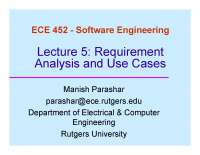 Requirement Analysis and Use Cases-Introduction to Software Engineering-Lecture 05 Slides-Computer Science