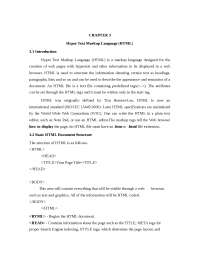 Chapter 3 HTML - Hyper Text Markup Language (HTML) - Study and lecture notes