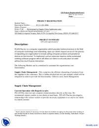 Project Registration Form (Sample)-Technical Writing-Handouts