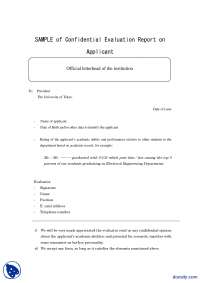 Sample Evaluation Report-Technical Writing-Handouts