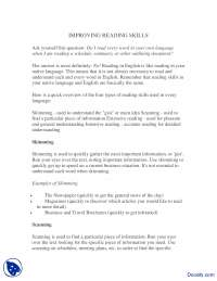 Improving Reading Skills-Effective Business Communication-Lecture Handout
