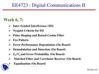 Inter Symbol Interference-Digital Communication-Lecture Slides