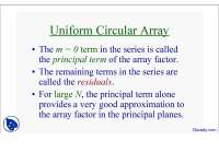 Uniform Circular Array-Antenna Theory and Arrays-Lecture Slides