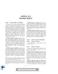 Welded Joints-Boilers and Welding-Article
