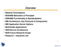 Network Convergence-Networks And IP MultiMedia Subsystem-Lecture Slides
