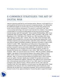 The Art of Digital War-E Commerce-Article