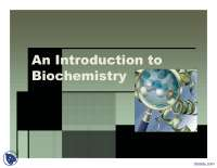 An Introduction to Bio Chemistry-Proteomics-Lecture Slides