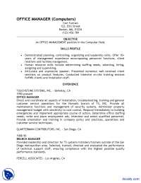 Sample Resume-Report Writing Skills-Assignment