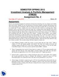 Portfolio Management-Accountancy, Banking and Business Administration-Assignment