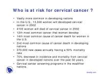 Cervical Cancer-Cancer Cytogenetic-Lecture Slides