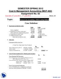 Cost and Management Accounting Solution-Accountancy, Banking and Business Administration-Assignment Solution