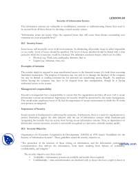 Security Of Information System-Information Security and Systems-Lecture Notes