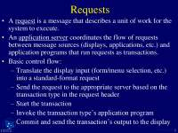 Application Servers For Project-Transaction Process For ECommerce-Lecture Slides