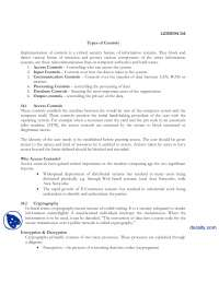 Types Of Controls-Information Security and Systems-Lecture Notes
