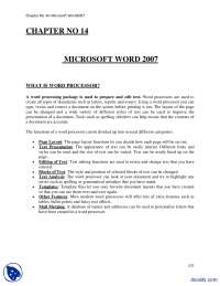 Microsoft Word 2007-Computer Fundamentals-Lecture Notes