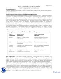 Operations Concerns When Implementing Strategies-Strategic Management-Lecture Handout