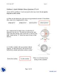 Mcq's III-Classical Physics-Exam Solution