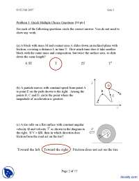 Mcq's II-Classical Physics-Exam Solution