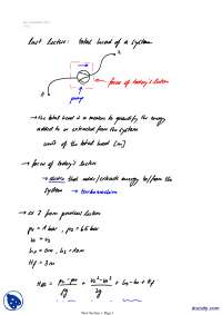 Total Head Of System-Classical Physics-Lecture Notes
