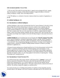 Artificial Intelligence-Management Information System-Lecture Notes