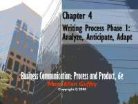 The Writing Process: Phase I - Slides - Business Communications - MGT286 - 9/26/2012