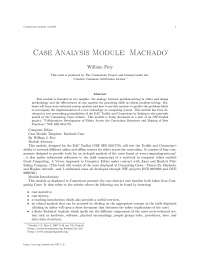 Case analysis module machado, college study notes - Case analysis