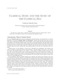 Classical music and the music of the classical era, college study notes - Introduction what is classical music