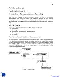 Knowledge Representation and Reasoning - Artificial Intelligence - Lecture Notes
