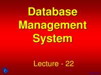 Data Volume and Usage Analysis - Database Management - Lecture Slides