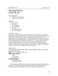 File Concept, File Types - Introduction to Operating System - Lecture Notes