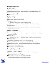 Psychological Disorders - Fundamentals of Psychology - Lecture Notes