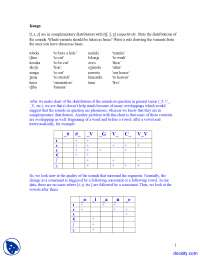 Complementary Distribution - Introduction to Phonetics - Lecture Notes
