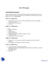 Basic MR Imaging - Introduction to Neurology - Lecture Notes