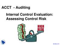 Internal Control Evaluation - Auditing and Assurance - Lecture Slides