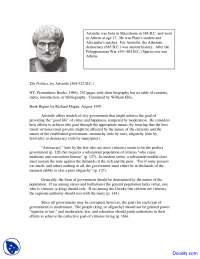 Aristotle - Classical Theory - Lecture Notes