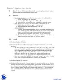 Elements of a Crime - Law of Criminal - Lecture Notes