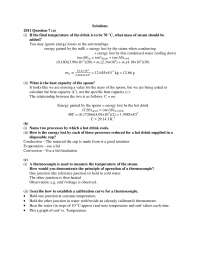 Heat and Temperature - General Physics - Solved Exam